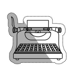 Typewriter vintage device vector