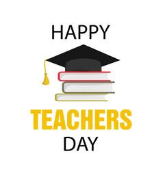 typography banner happy teacher s day vector image
