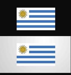 Uruguay flag banner design vector