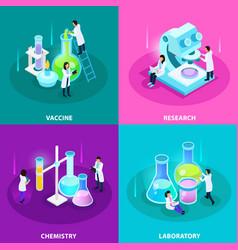 vaccines development isometric design concept vector image