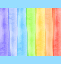 Watercolor texture for rainbow shades vector