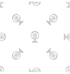 web camera pattern seamless vector image