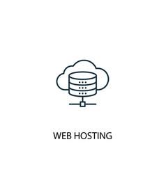 web hosting concept line icon simple element vector image