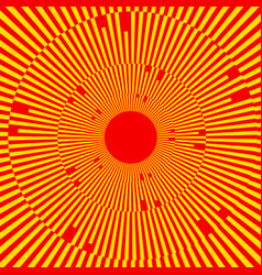 With rays beams radial - radiating lines abstract vector