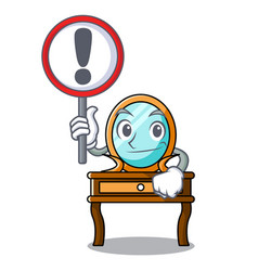 with sign dressing table character cartoon vector image