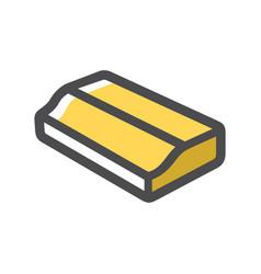 wood plank carpentry product cartoon vector image