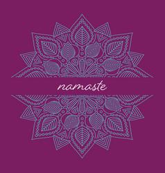 yoga classes brochure template with mandala vector image
