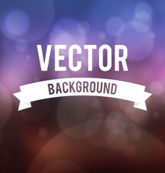Bokeh effect with blur background collection vector image