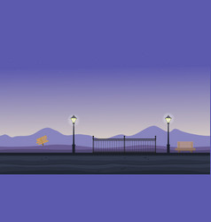 collection of hill scenery flat vector image vector image