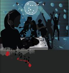 dj club scene vector image