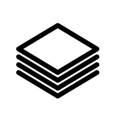 layers or stack of papers icon outline modern vector image