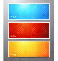Set of three bright winter banners vector image vector image