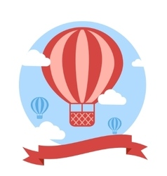 Greeting Card with Red Hot Air vector image