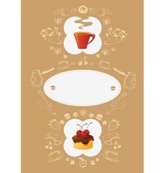 Menu Card Template vector image