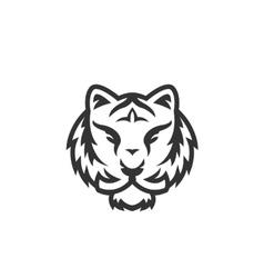 Tiger logo on white background vector image