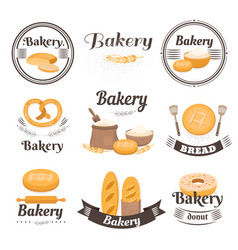 vintage bakery logo vector image