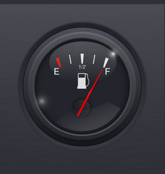 black fuel gauge full tank vector image vector image