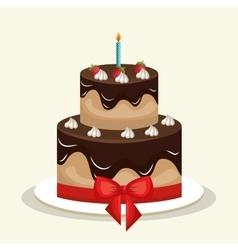 cake chocolate sweet graphic vector image