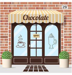 chocolate shop facade vector image vector image