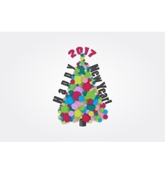 Happy new year 2017 Merry Christmas Typographic vector image