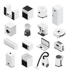 Isometrics Home Appliances Icon Set vector image