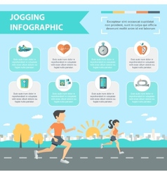 Jogging Infographics Set vector image vector image