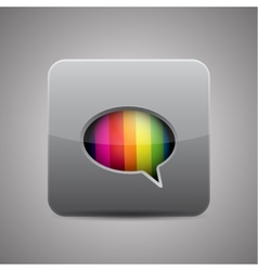 messager chat application icon vector image vector image