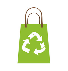 recyclable eco friendly icon image vector image