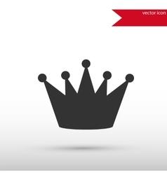 Black crown icon vector image vector image
