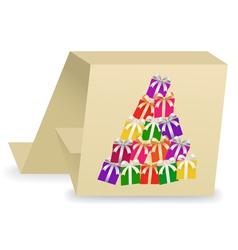 christmas card 3 vector image vector image