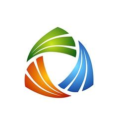 Circular triangle geometry business logo vector