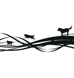 dogs spiral vector image vector image