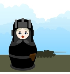 Matryoshka tankman vector image