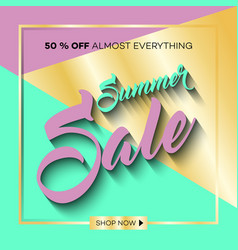 summer sale background with tropical palm leaves 9 vector image