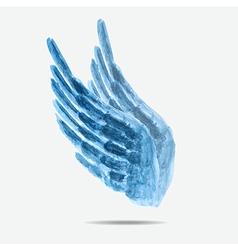 watercolor wings vector image