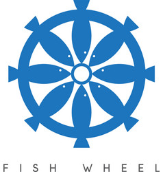 Abstract design of fish and wheel vector