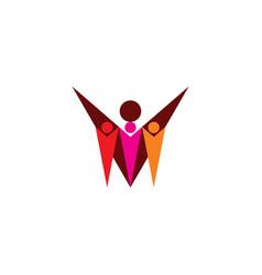 Babysitter and children logo icon vector