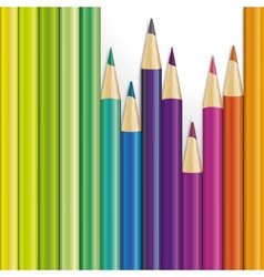 background of colored pencils vector image