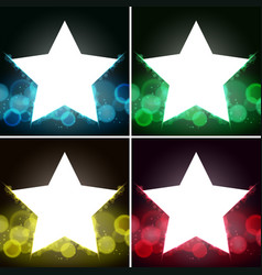 background template with bright lights and star vector image