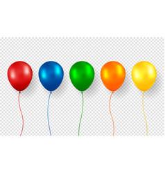 balloon realistic flying birthday helium vector image