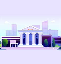 bank building banking investment wealth growth vector image