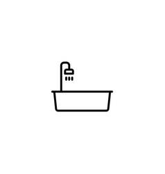bathtub tub icon vector image