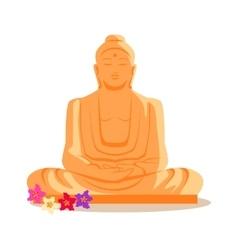 Buddha Statue in Flat Design vector