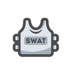 Bulletproof vest body armor cartoon vector