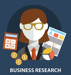 Business research flat modern design concept vector