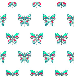 butterfly green and blue baby seamless vector image