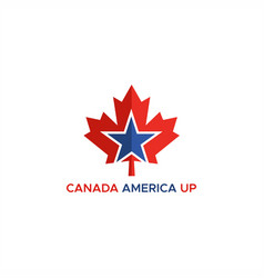 canada america up logo vector image