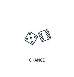 chance concept line icon simple element vector image