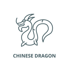 chinese dragon line icon linear concept vector image