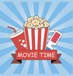 cinema movie time vector image